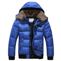 mens jackets and coats winter 2013 coat fur collar plus size parka coats wool military coat men fashion winter jacket