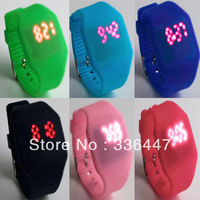 1Pcs Unisex LED Digital Touch Screen Jelly Watch Wristwatch Silicone sport  ultra-thin Newest