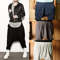 New Fashion Trendy Mens Stretchable Harem Casual Trousers Dance Hip-hop Pants Free Shipping
