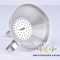 2013 new arrival 304 stainless steel funnel oil leak wine belt filter tools KT05