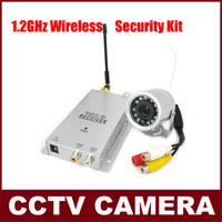 Free Shipping Mini Camera 1.2 GHz Wireless Waterproof IR Camera + Wireless Video Receiver Wireless Security Kit
