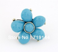 The Korean Fashion exaggeration wealth bloom temperament opening ring ,12pcs/lot ,free shipping