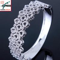 Hot AAA zircon bangle bracelet Luxury jewelry vintage for women 2014 Spring New arrival promotion