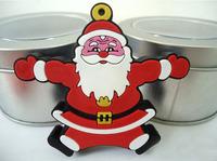 UFD0383 wholesale freeshipping Hotsale Cute Santa Claus MD611 Gift USB Flash Drive Christmas Gift USB Flash Disk drive  4GB-32GB