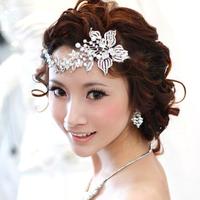 2013 Rhinestone Pearl Flower Bridal Tiara Crown Quinceanera Pageant Tiaras & Crowns Wedding Headband Hair Accessories WIGO0181