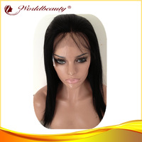(free shipping+gift+best quality) women glueless lace front lace wigs brazilian virgin human hair half lace wigs