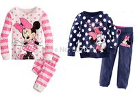 Children's Baby Pajamas Set Baby Girls Kids Pajamas Minnie Mickey Sleepwear Children Clothing 2pcs/set 2-7Y