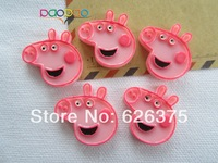 Wholesale Peppa Pig, Resin flatback cabochons for scrapbooking, hair bow center, all DIY Free Shipping