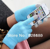 2013 Free shipping Winter warm gloves capacitive screen conductive gloves(Ten color)