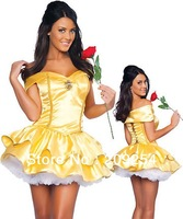 High Quality Adult Snow White Princess Belle Halloween Costume With Underskirt Sexy Costumes for Women Plus Size M L XL