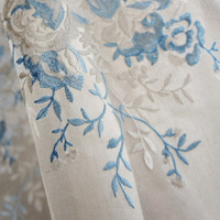 blind new 2013 luxury  blackout fabric embroidered curtain window screening for living room curtains and curtain gauzes
