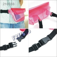 18*18cm 3 ziplock Outdoor PVC Waterproof Waist Pack Bag Belt Back for Beach Diving Swimming for galaxy s4 i9500 / camera / money