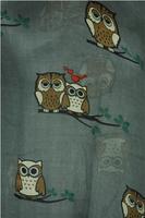 12pcs/lot Fashion Animal Owl Heart Print Scarf Shawl Wrap Voile Polyester Scarves 180cm*110cm, Free Shipping