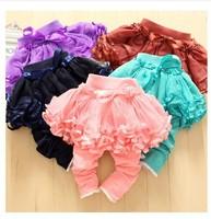 HB0270 Cute baby pants,kids skirt legging size 80-110,/tutu flower skirt candy colors legging/Wholesale and Retail Honey Baby