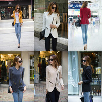 Free shipping 2014 hot sell Personalized Cool Lady Lapel Shrug Oblique Zip Jacket Coat 6 Color S M L XL