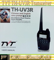 TYT TH-UV3R Dualband 136-174/400-470MHz HT Two Way Radio walkie talkie Mini Compact Size THUV3R 2pcs/lot Free