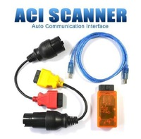 ACI Scanner Auto Interface obd with Full Adapters 100% Competibale with Autoengiuity Support English Spanish German