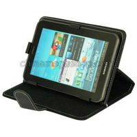 "Free Shipping 7"" Tablet PC Leather Case for Samsung Galaxy Tab 2 / P3200 / Other Less Than 7 inch andriod Tablet PC"