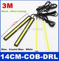 2x Ultra-thin 3M 14cm COB Chip 60 LED Car Daytime Running Light 100% Waterproof Auto LED DRL DC 12V 9W High bright Fog lamp