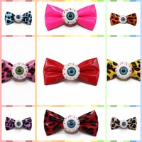 1pc Women Girls' Jewelry Bright solid Color Eyeball Bow Hair Clip Horror Goth Hairpin Accessories