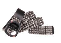 New 2014 Genuine Leather Vintage Punk Belts For Men Cowhide Retro Rivet Stud  Designer Brand Black Hip Belt Long 120 TBT0090