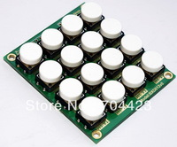 4*4 matrix keyboard Signal chip module 16 keys keypad with 12*12mm big button / 4 color key cap can be selected