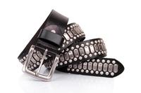New 2014 100% Genuine Leather Vintage Punk Mens Belt  Retro Rivet Stud Belts For Men Designer Brand Casual Accessories TBT0089