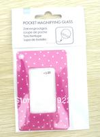 +300 power reader Pocket reading glasses Mini  magnifying glass Wallet reading glasses mini card reading glasses