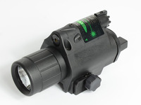 2014 Latest Revised 200 Lumen Tactical Laser Flashlight Combo & 5mw Green Laser Sight for Pistol Free Shipping