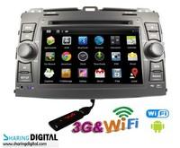 Sharing Digital Android 4.2  car video car dvd TOYOTA PRADO Cruiser 120 ( LC120 ) DVD NAVIGATION  TYT-868GDA