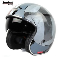 Free shipping!Tanked Racing half helmet,electric bicycle Motorcycle helmets,Open face capacete,ECE DOT safe Approved,NO.1