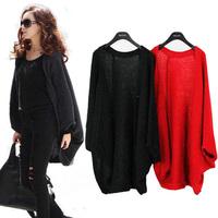 Fashion Women Batwing Bat Sleeve Cardigan Sweater Loose Long Cape Coat Knit Crochet Tops Wrap Shawl