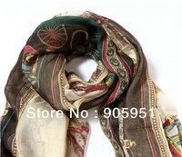 2013  Autumn & Winter chiffon Scarf  Korea style scarf  women fashion scarf   Khaki  colour