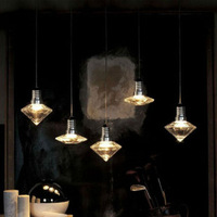 Lamp fashion modern bar 3w  LED bulb multithread  glass art lights for home for dining room  pendant light free shipping