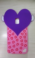 Free Shipping hybrid soft silicone Fashion Heart protector crystal phone case for Samsung Galaxy note 3 n9000