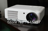 Newest  overhead LED portable HD projector proyector projetor beamer,with 2HDMI 2USB,built-in TV turner