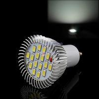 12PCS/LOT 85V-265V/6.4W High Power Domestic lighting GU10 16 SMD 5630 LED Cold White Spot Light Lamp Bulb TK0596