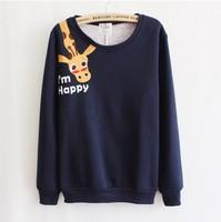 New College/Varsity Jacket Happy giraffe cute cartoon animal casual sweatshirts thin hoodies clothing women WH-010