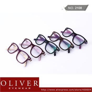 Wholesales!2013 New Arrival Multicolor Cool Optical Frame For Man Oliver Brand Eyeglasses Color Patchwork Eyewear 2108!Free Ship