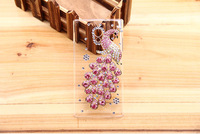 Peacock Diamond Bling jewels Crystal Cover Case for OPPO Find way u705t Free shipping
