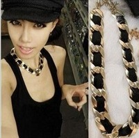 2013 new fashion jewelry Free Shipping ! Min order $10 Trend fashion punk chain statement necklace for women  Factory Price