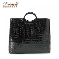 2014 portable female bags crocodile pattern genuine leather women's big bags  briefcase Fashion leather handbag