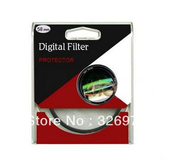 100pcs/lot 67mm UV Digital Filter Lens Protector for Canon/Nikon DSLR SLR Camera Free Shipping+tracking number