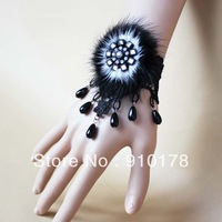 winter style goths imitated fur lace bracelet bangle fashion vintage sweet wristband costume jewelry