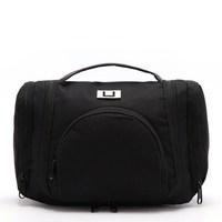 Black Deluxe Large Hanging Hook Travel Toiletry Kit New Orgarnizer Shaving Bag