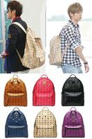 KPOP HOT Backpack knapsack exo luhan kris 2pm beast same type schoolbag beige brown