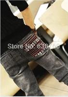 Spring slim jeans pants male vintage skinny jeans pencil pants trousers