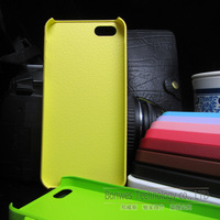 Ultrathin Leather Skin Hard cell phone case Cover For iPhone5 5G, Free shipping