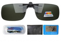 Free shipping Patented F6 Small Polarized Flip up Sunglasses Clip on With Case F6 G15