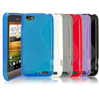 1/6 Colors Durable TPU Gel Silicone Skin Cover Case For Smart Phone HTC One V